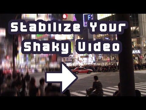 How to stabilize shaky video (For free!)