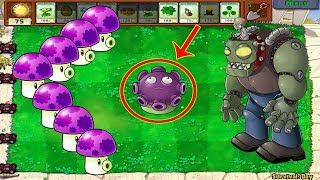 Plants vs Zombies Hack - 1 Gloom-Shroom vs All Zombie