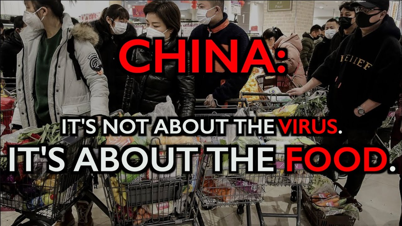 CHINA: It's NOT About the Coronavirus -- It's About the FOOD