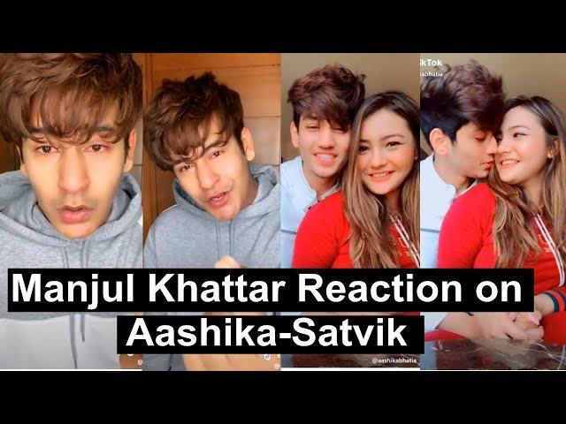 Manjul Reaction on Aashika Satvik Relationship   Tiktok   Musically