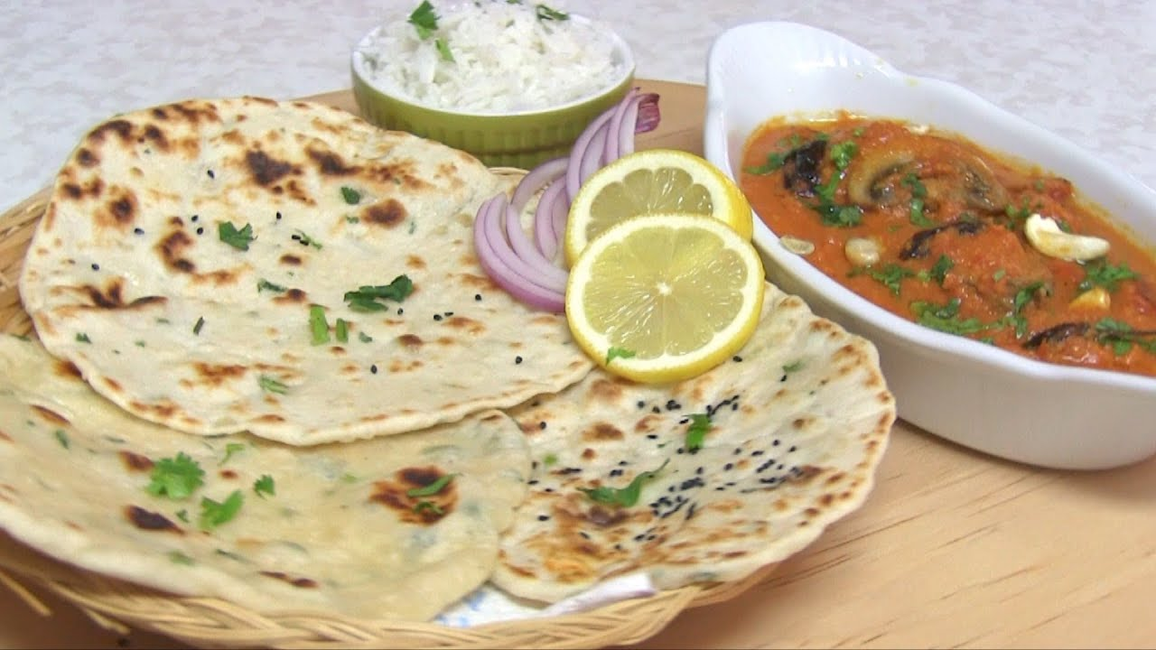 No Yeast Tawa Naan Recipe Video  Quick  Easy Yeast free