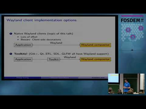Wayland client basics How to natively speak Wayland in your application, from the bottom up