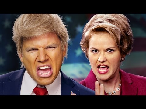 Donald Trump vs Hillary Clinton.  Epic Rap Battles of History.