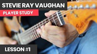 How To Play Like Stevie Ray Vaughan [Course Lesson 1] Fast Texas Blues Solo