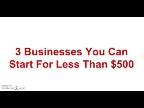 Dr Boyce Watkins? 3 Businesses You Can Start For Less Than $500
