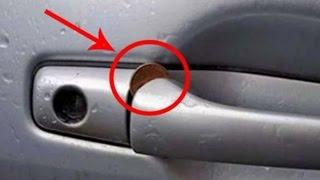 Eine Geldmünze in deiner Autotür? - Sofort die Polizei rufen! 😱😱