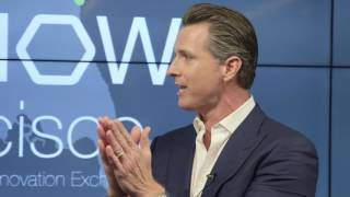 gavin newsom on the future of work the tech genie s out of the bottle