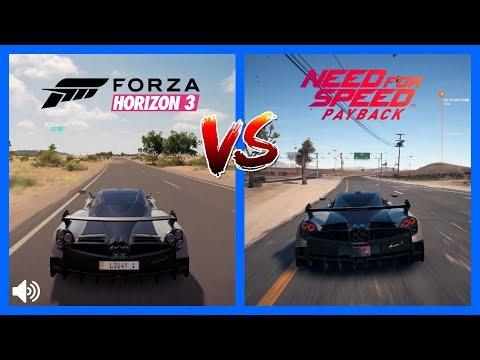 Forza Horizon 3 Vs NFS PayBack Pagani Huayra BC Sound Comparison