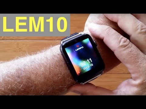 LEMFO LEM10 4G Android 7.1.1 IP67 Waterproof Square Front Camera Smartwatch: Unboxing And 1st Look
