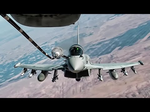 Royal Air Force Typhoon FGR4 • In-flight Refueling