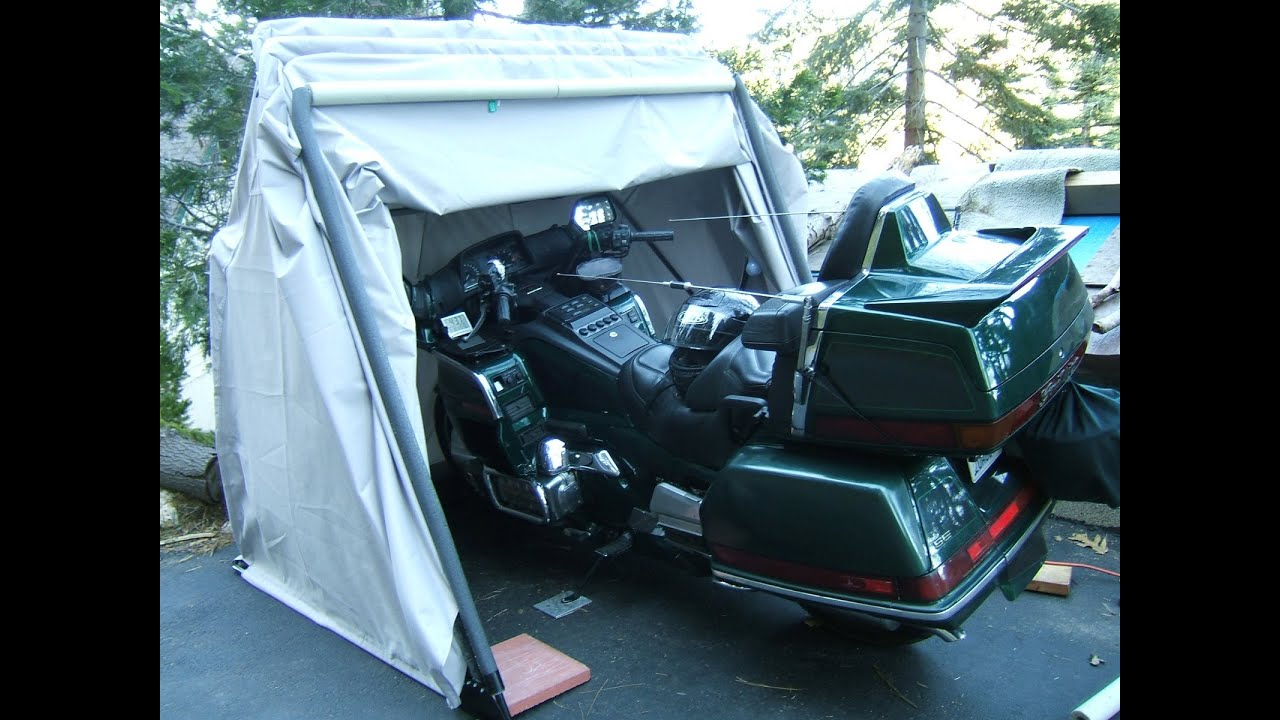 Motorcycle tent bike garage fast in/out affordible simple storage Quad-Trike or jet ski? 2 of 2 - YouTube & Motorcycle tent bike garage fast in/out affordible simple ...