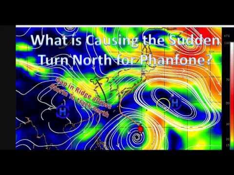 Rapidly Intensifying Typhoon Phanfone Threatens Japan