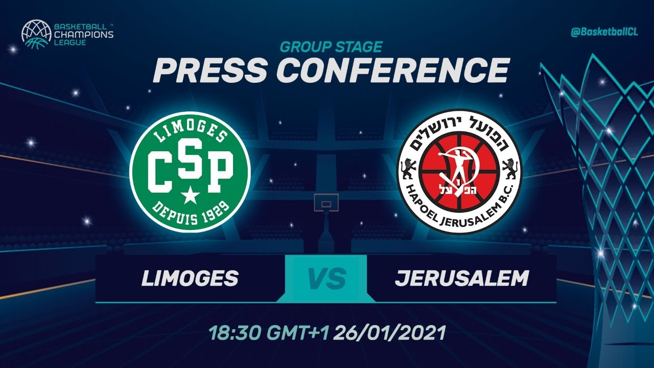 Limoges CSP v Hapoel Jerusalem - Press Conference