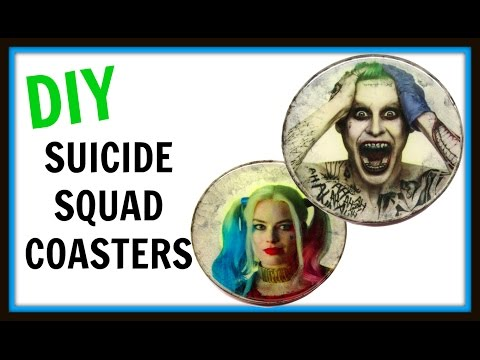 Suicide Squad Coasters | DIY Project | Another Coaster Friday | Craft Klatch | How To