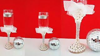 Aprenda: taça de champanhe customizada