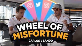 Carlos Sainz and Lando Norris play 'Wheel of Misfortune'