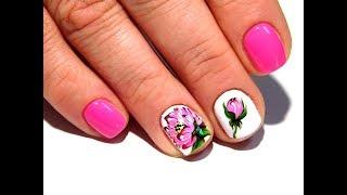Красивый и простой дизайн ногтей. ТОП удивительные дизайны ногтей Пион