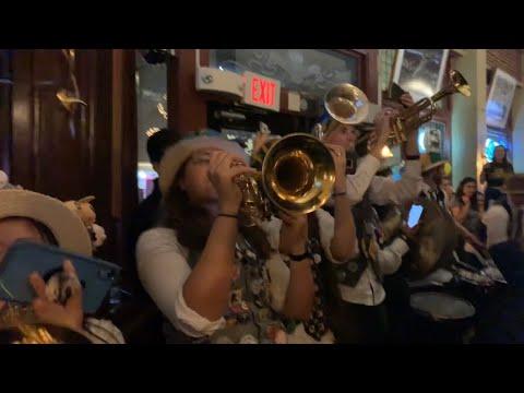 Cal Band Performs At Royal Exchange San Francisco 2019 Big Game