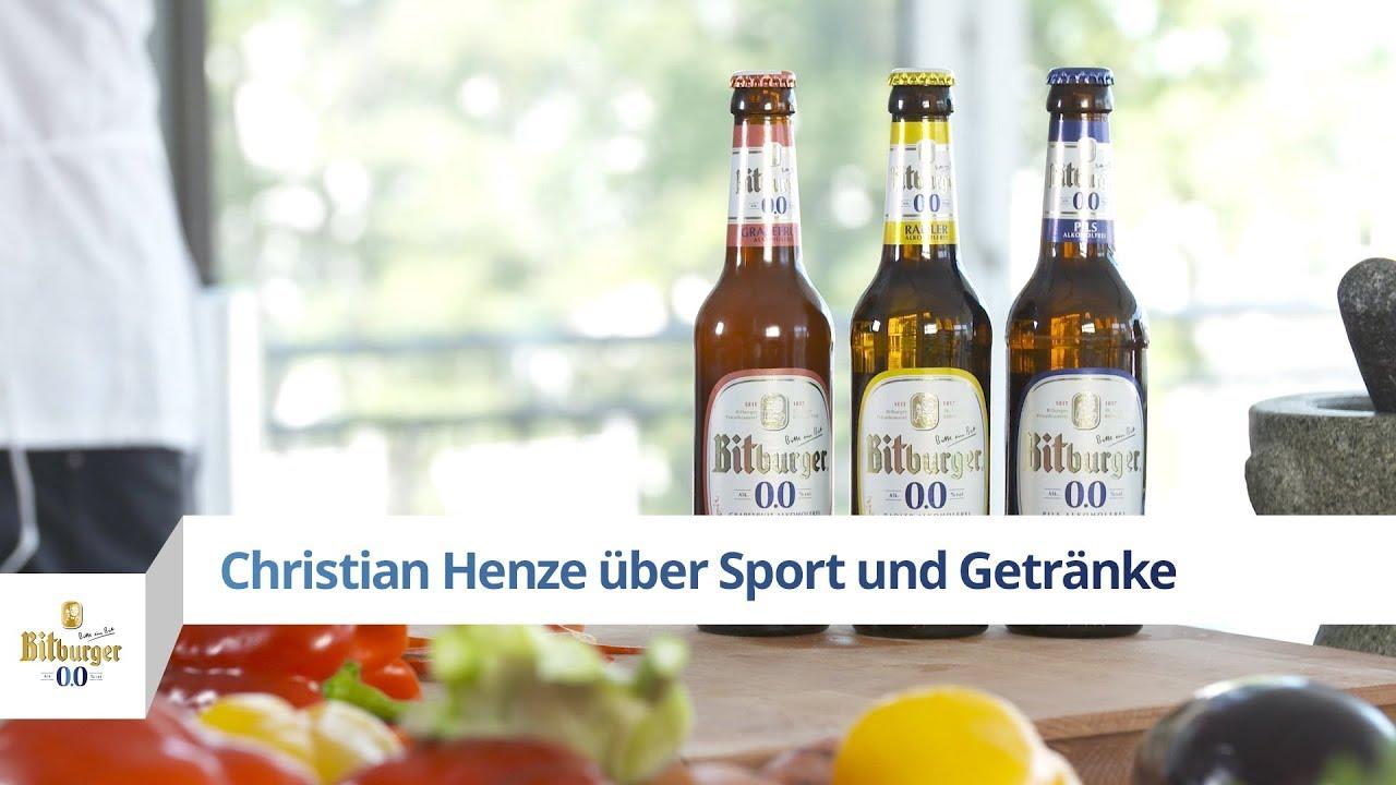 Christian Henze über Sport und Getränke - YouTube