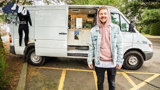 STEALTH SPRINTER VAN TOUR // Young Man Chooses Vanlife to Save Money and Travel.