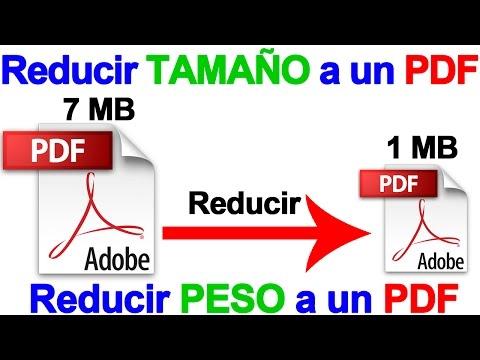 Como bajar el peso de un pdf con nitro