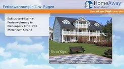 Binz: Exklusive 4-Sterne-Ferienwohnung im Dünenpark Binz - 200 Meter zum - FeWo-direkt.de Video
