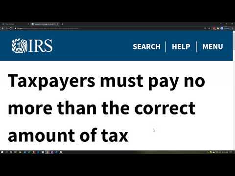 Taxpayers must pay no more than the correct amount of tax