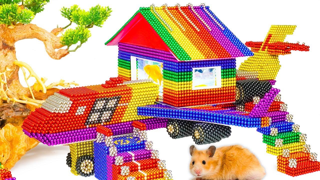 DIY - Build Creative House Design Airplane House For Hamster From Magnetic Balls (Satisfying)