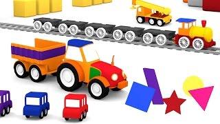 Cartoni animati per bambini: Macchinine colorate e il trattore