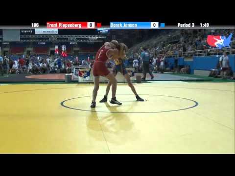 Fargo 2012 106 Round 2: Trent Piepenberg (Minnesota) vs. Derek Jensen (Utah)