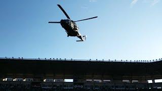 Los Reyes Magos llegan a Logroño en helicóptero