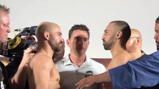 Paulie Malignaggi vs Artem Lobov INTENSE FACE OFF at Weigh In