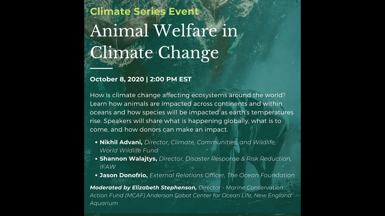 NEID Animal Welfare in Climate Change Event