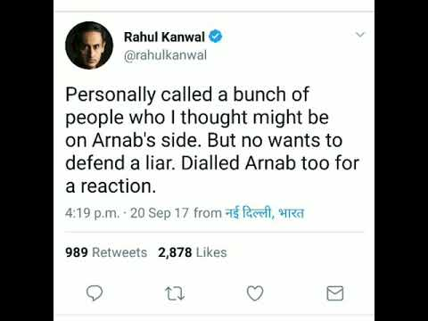 Rahul kanwal tweeted on arnab see how his followers reacts