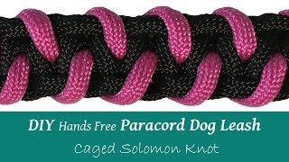 DIY Paracord Dog Leash  Hands Free   Caged Solomon