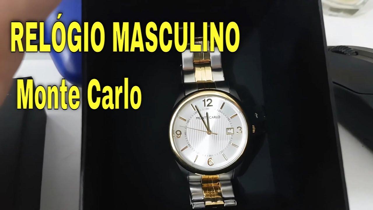 47f824ebe0c RELÓGIO MASCULINO Monte Carlo - YouTube