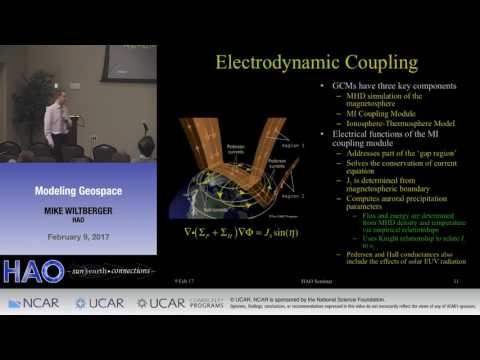 Mike Wiltberger | NCAR HAO | Modeling Geospace