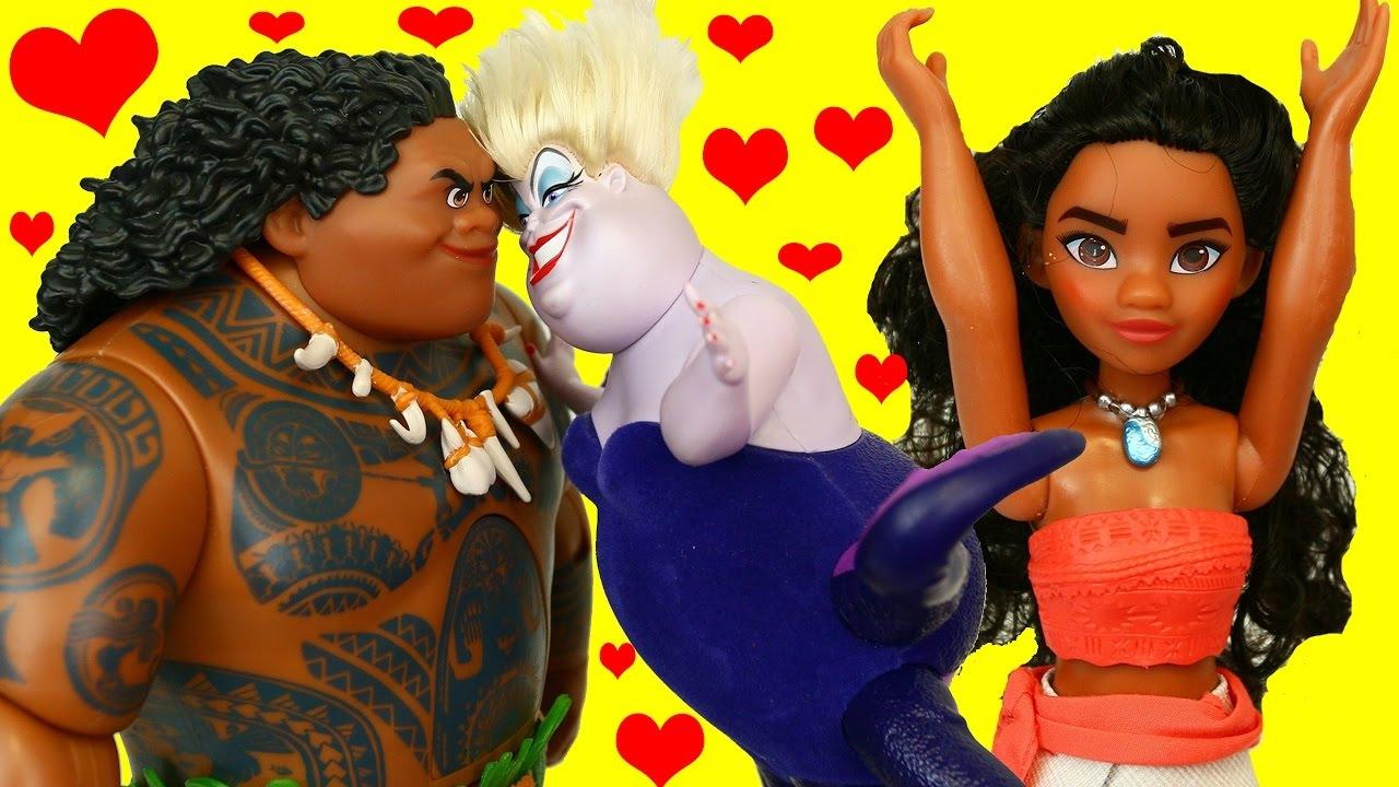 Moana Amp Maui Go Soft Maui Kisses Ursula Disney Princess