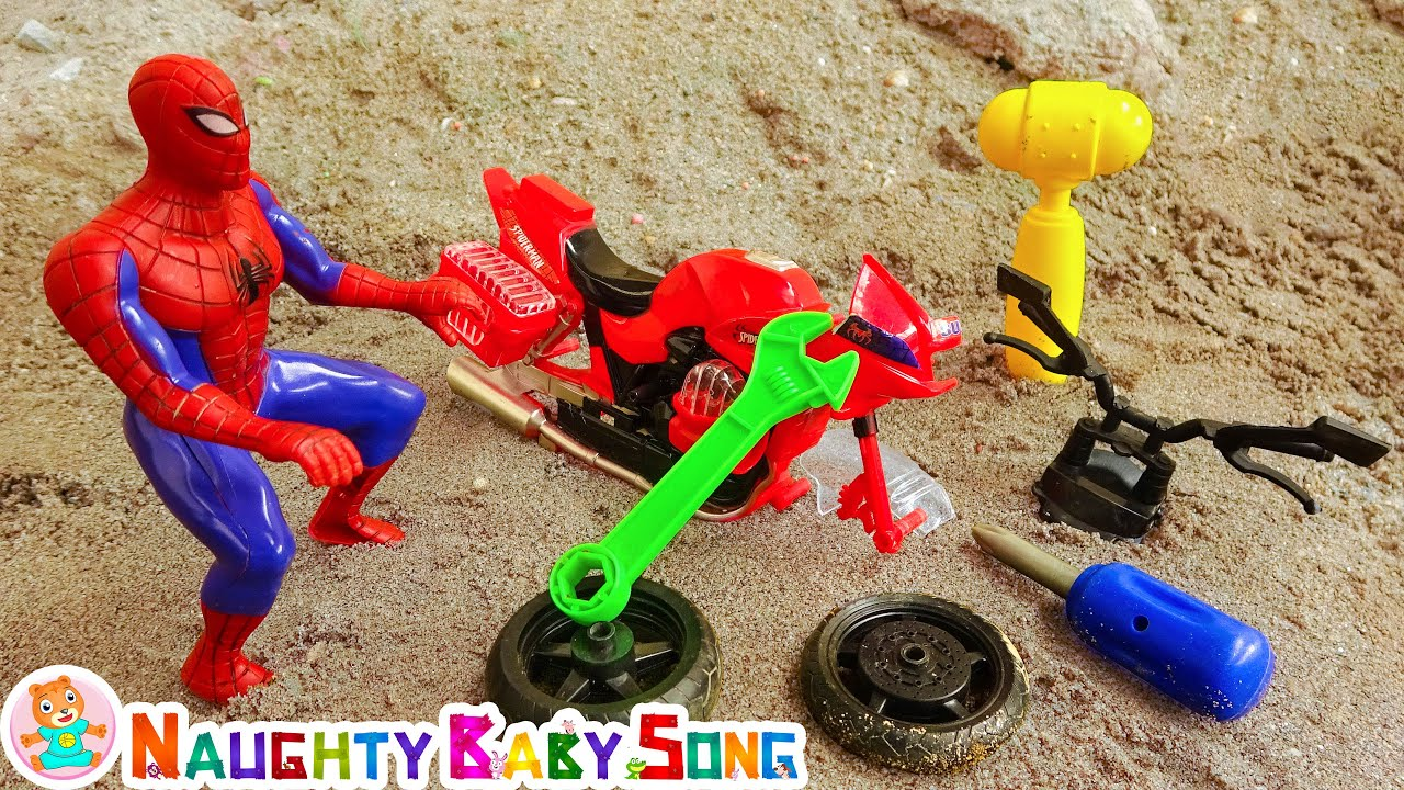 Monte brinquedos com o homem-aranha - Naughty Baby Song