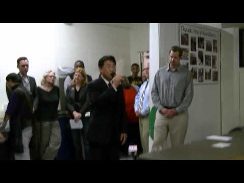 Donald Pak, president of Korean Asssoc at Cleveland shelter