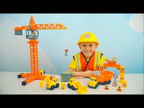 СТРОИТЕЛЬ ДАНИК И МАШИНКИ для Детей - Видео для детей про Машинки все серии подряд