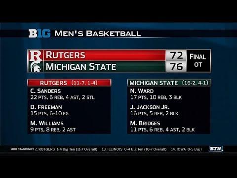 Big Ten Basketball Highlight: Rutgers at Michigan State