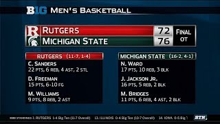 Big Ten Basketball Highlight: Rutgers at Michigan State