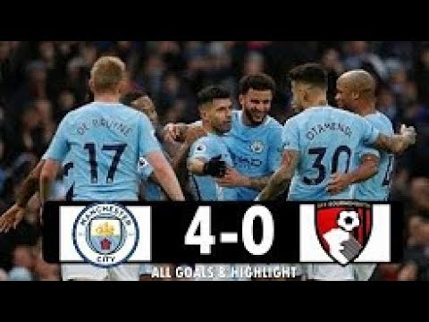 Download Manchester City vs Bournemouth 4 0 All Goals & Highlight Extended EPL 2017 18   YouTube