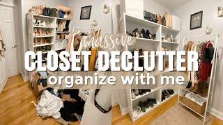 Massive Closet Declutter   Organize With Me