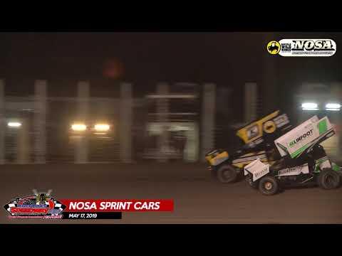 5/17/19 NOSA Sprint Car Highlights - River Cities Speedway