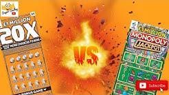 🧡🍊 Orange 20X VS Green Monopoly Jackpot Scratch Cards 🎩💚
