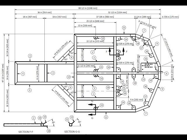 BadLandBuggy ST4 Plans/Drawings - PT 1. Drawing Base Frame / Structural Member function