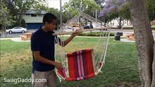 Club Fun Cushioned Hanging Rope Chair With Arm Rests Review - Swagdaddy