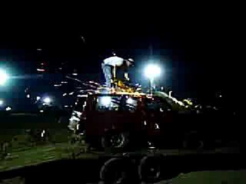 Fireball Truck Sales >> chop top bronco II fireball truck night - YouTube
